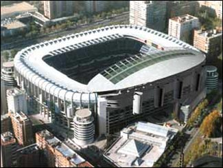 Real Madrid Stadium Aerial photo