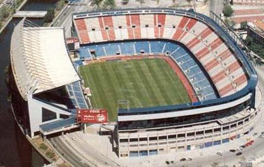 Atletico Madrid stadium Aerial view