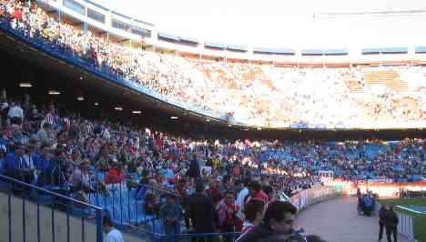 Atletico Madrid stadium - Northern end
