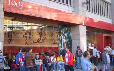 Atletico Madrid stadium superstore