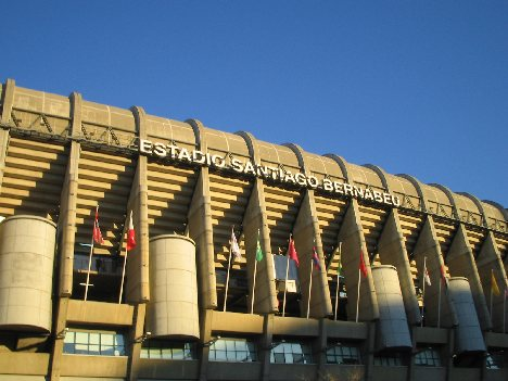 Santiago Bernabeu - Basking in the winter sunshine