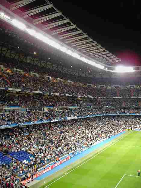 West side Stand of the Santiago Bernabeu