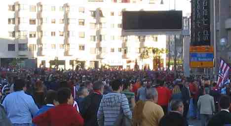 Atletico Madrid supporters pre match