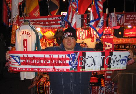 Football scarf sellers are the same the world over...