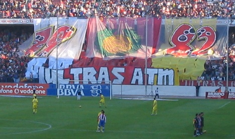 Atletico Madrid fans display