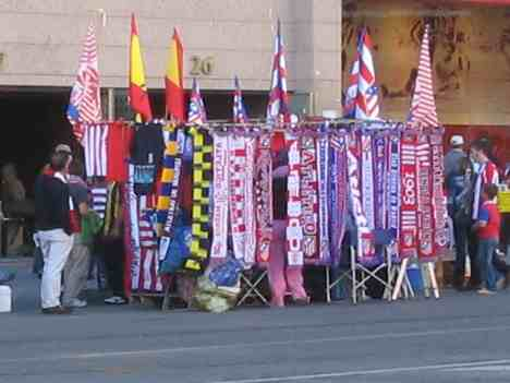 Spanish football store - In fornt of the Vicente Calderon