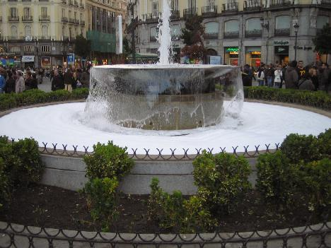 Sol fountain having been adapted