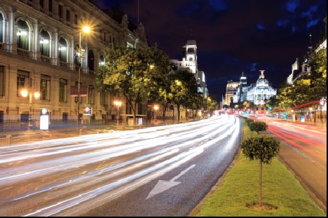 Gran Via in the heart of Madrid