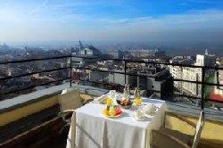 Romantic breakfast in a Madrid hotel