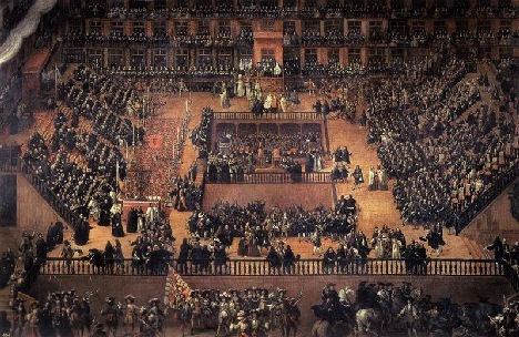 Plaza Madrid plaza Mayor in the middle ages: Creative Common