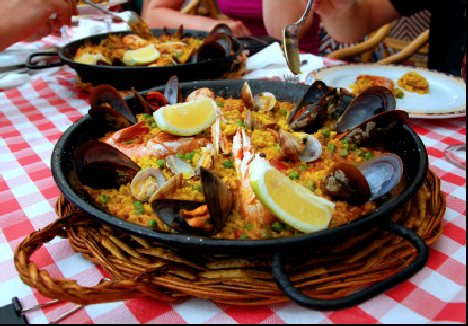 Paella in a Madrid restaurant