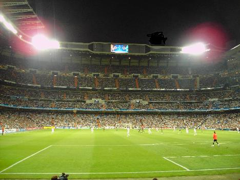 Real Madrid stadium close up and personal