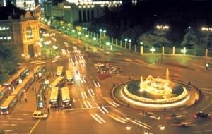 Madrids fleet of Night buses