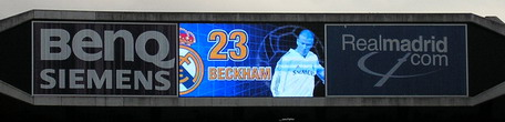 Real madrid electronic scoreboard