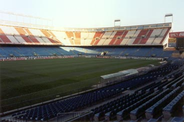 Atletico Madrid stadium North side