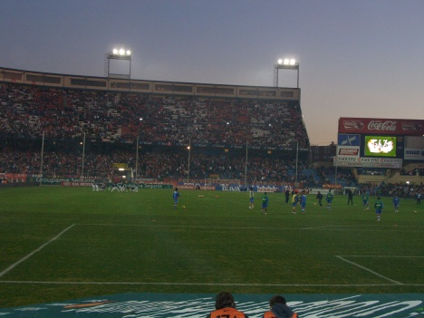 Atletico Madrid stadium filling up