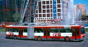 Madrids modern PEGASO 6425-A bus