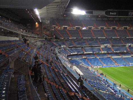 Santiago Bernabeu - Upper tier post match