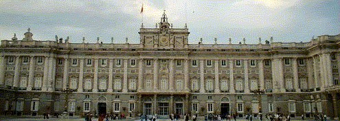 Madrid landmark, the Madrid royal palace or