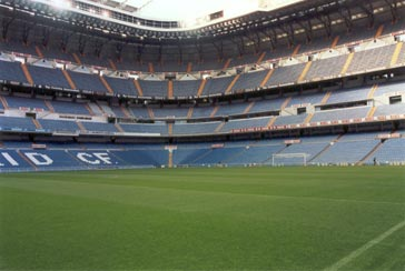 Real madrid stadium pichside view