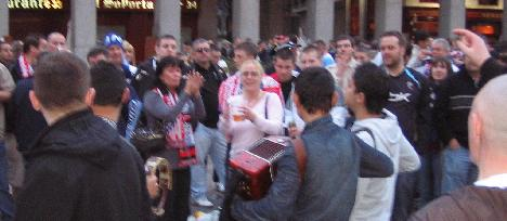 Buskers in plaza mayor