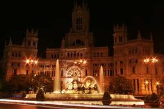 Cibeles fountain by night, Madrid monuments