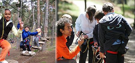 Tree slide and high wire adventure at Aventura Amazonia