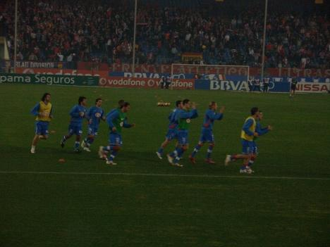 Atletico Madrid pre match player warm up